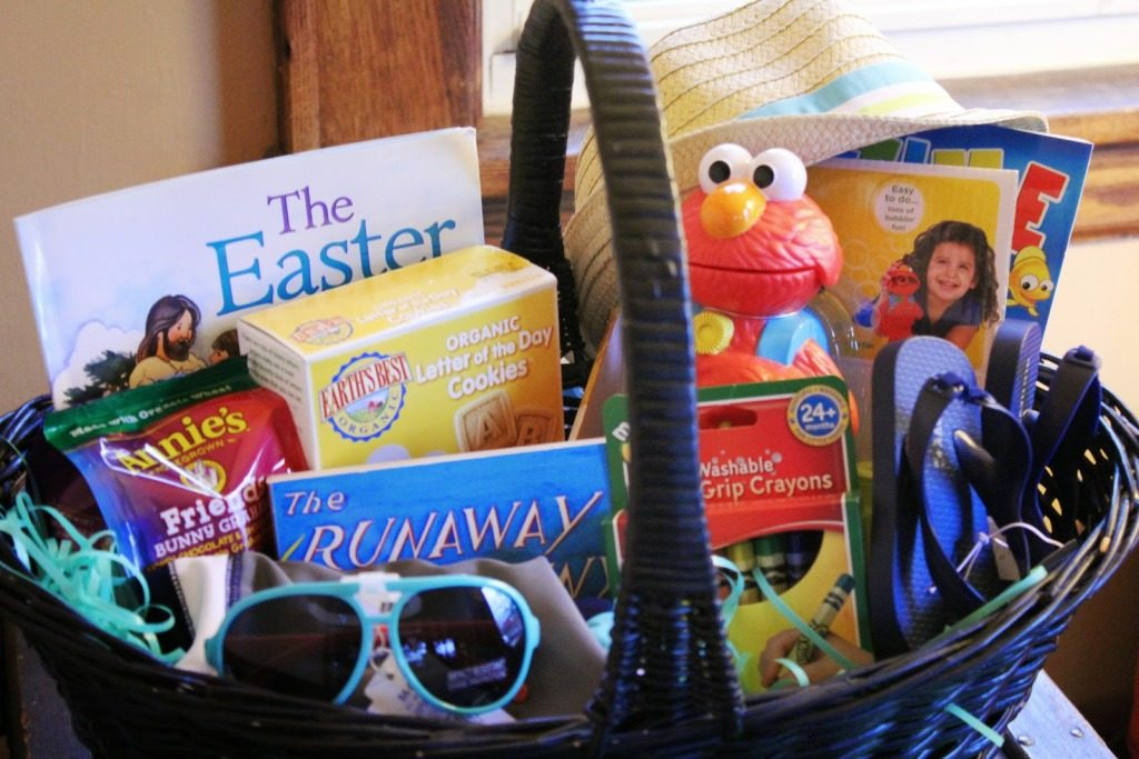 Toddlers first easter basket