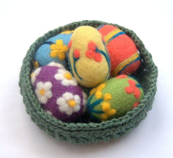 Felted Egg basket