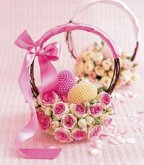 Rose easter basket