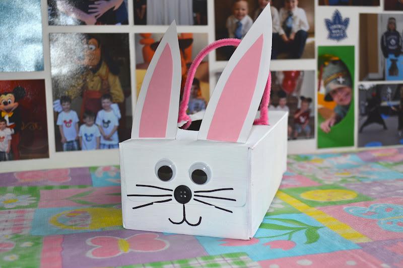 Tissue box bunny basket