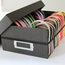 Storage for ribbons