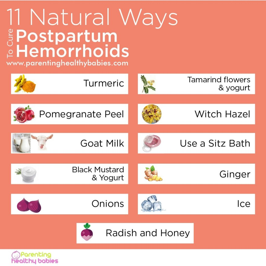 remedies for postpartum hemorrhoids