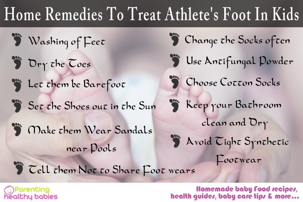 Athlete's foot in kids