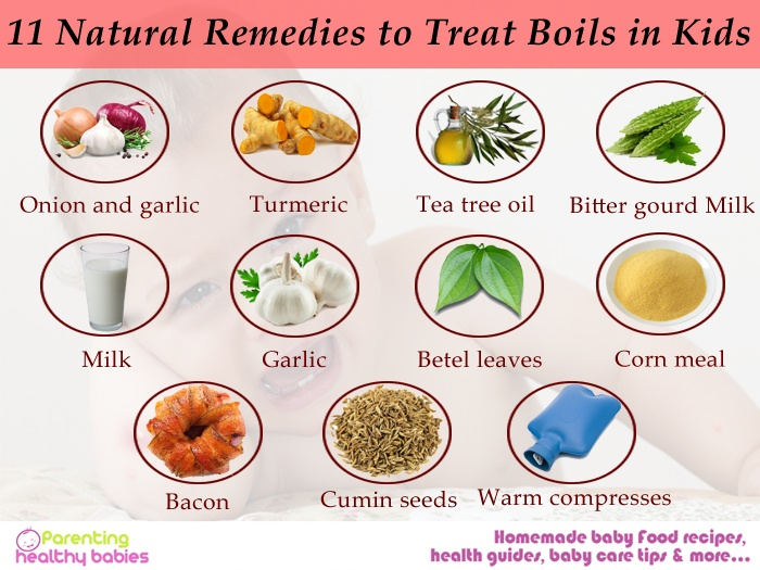 remedies to treat boils in kids