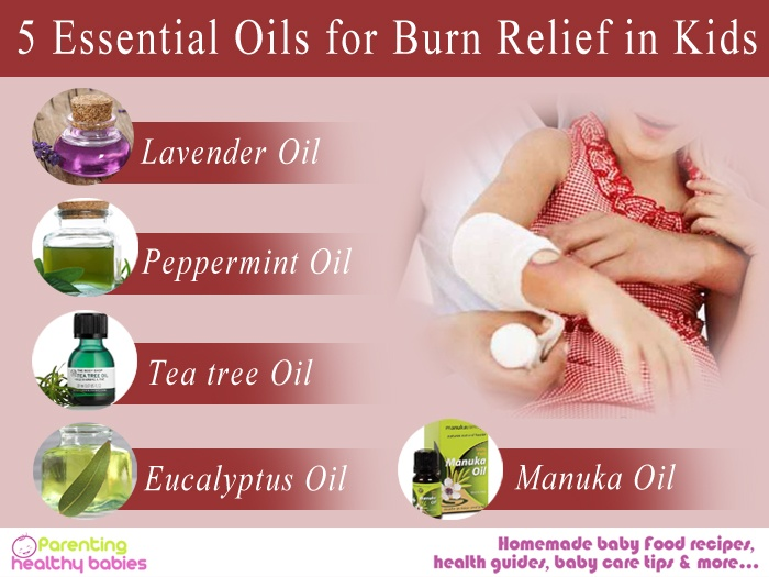 essential oils for burn relief in kids