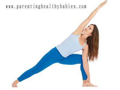 prenatal UtthitaParsvakonasana yoga pose