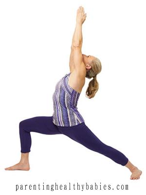 prenatal VirabhadrasanaI yoga