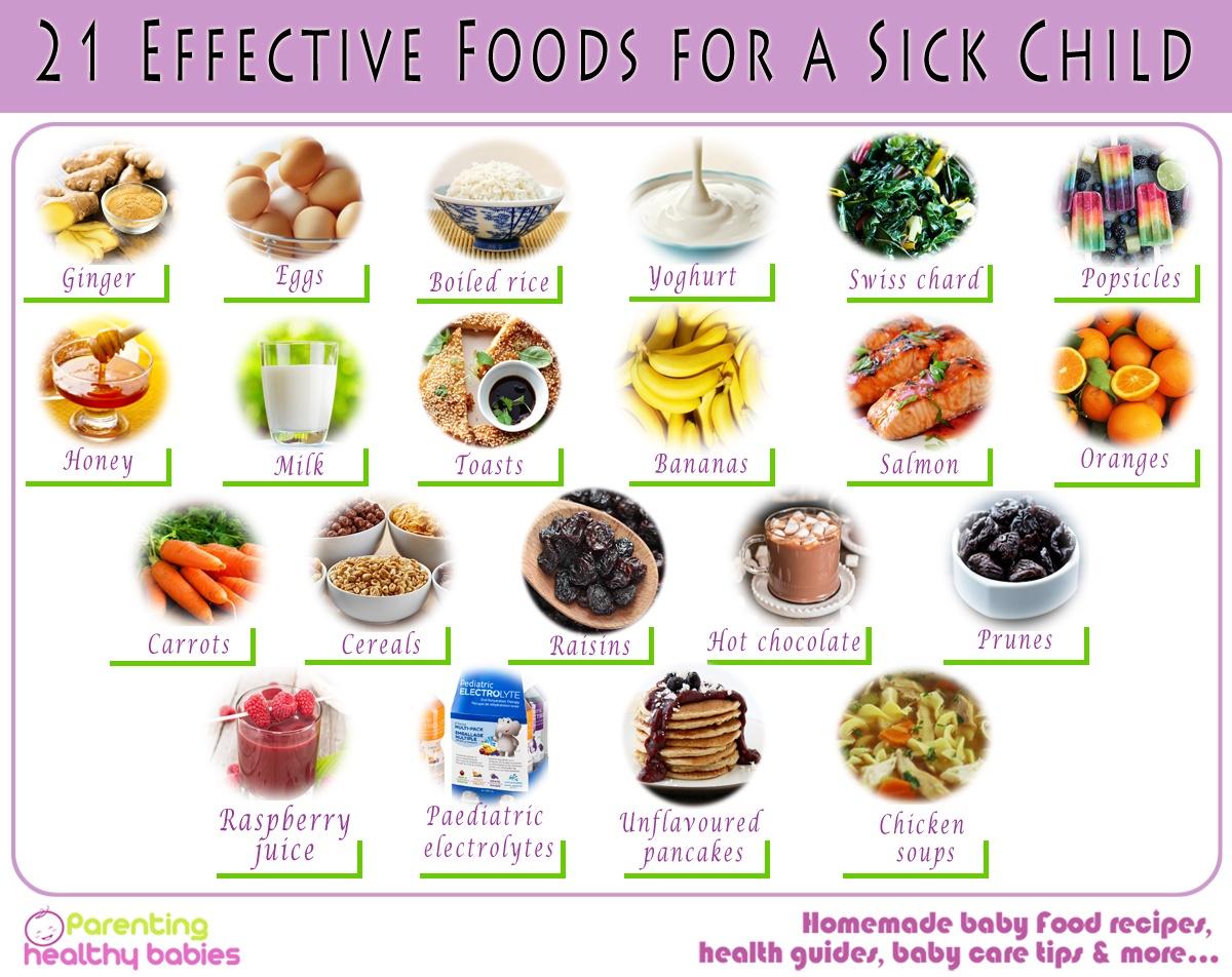 sick child foods