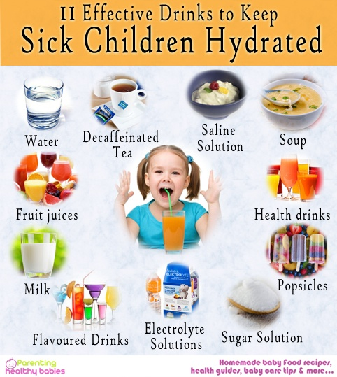 children hydrated