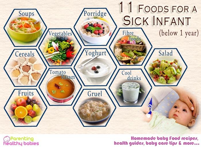 sick infant food