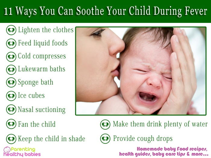 soothe your child during fever