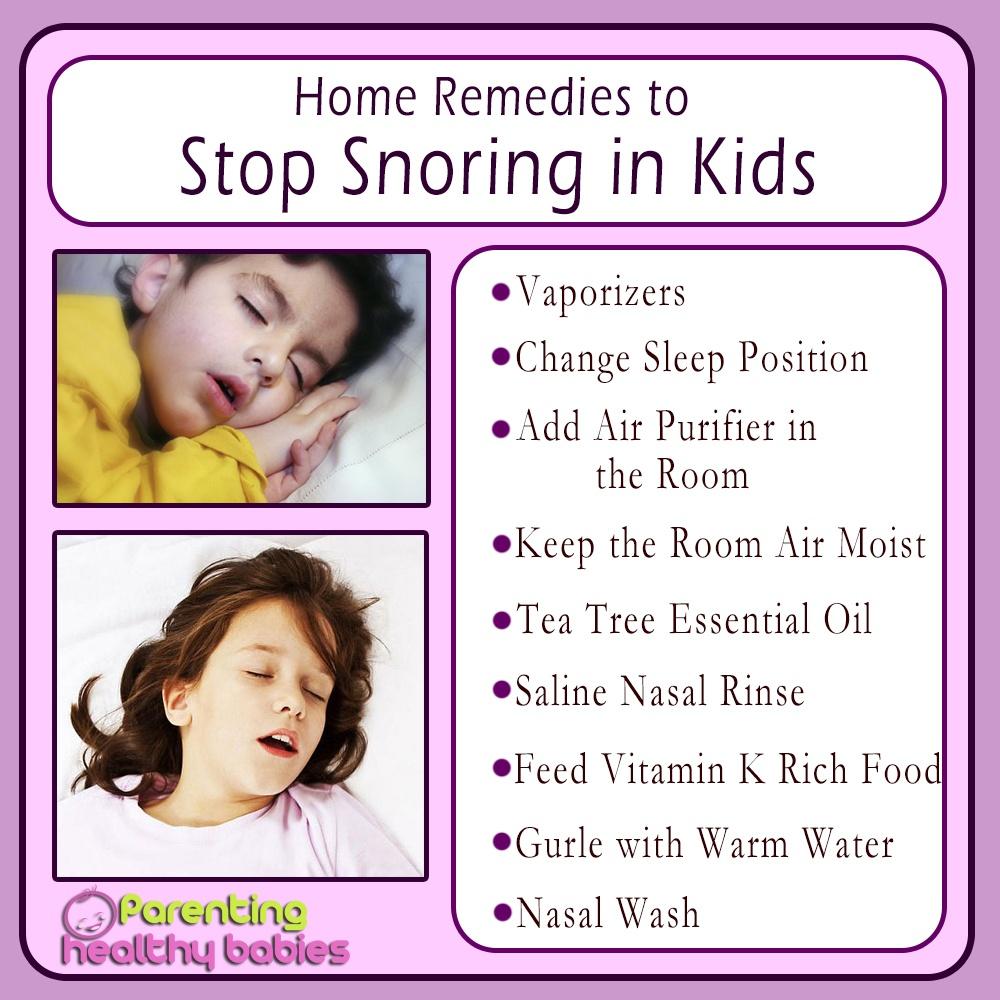 stop snoring in kids
