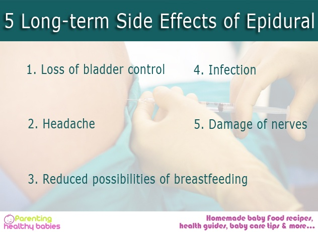 effects of epidural