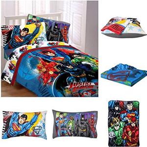 Reversible superman theme bed