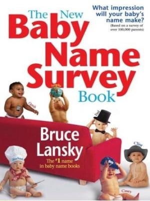 Baby Name Survey Book