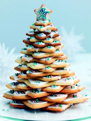 Festive Christmas Trees cookies