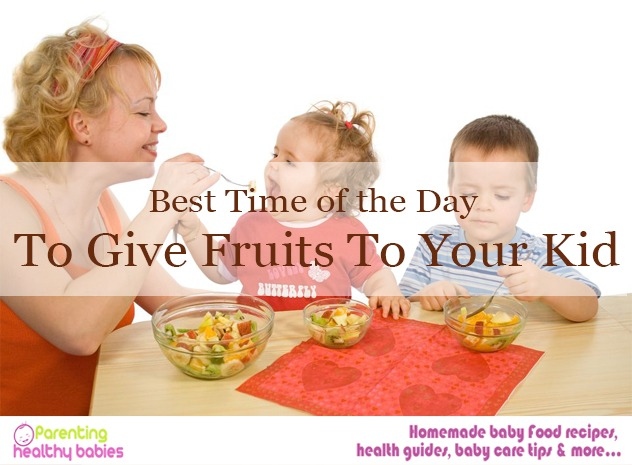 fruits to your kid