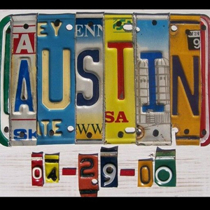 License plate initials