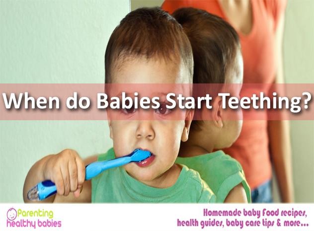 baby start teething