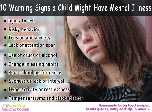potential psychological problems in a child