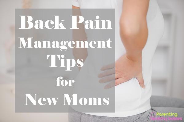 back pain for new moms
