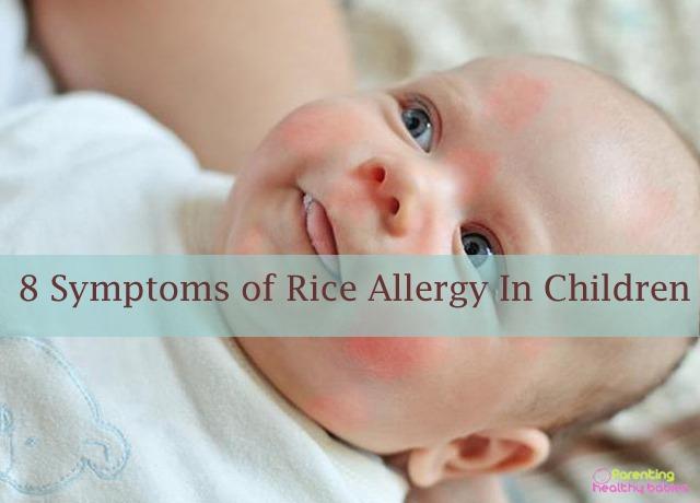 rice allergy in children