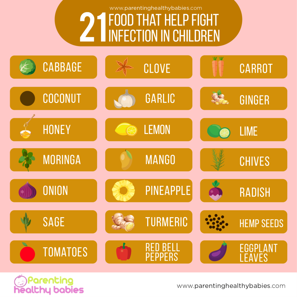21 Food that Help Fight Infection in Children