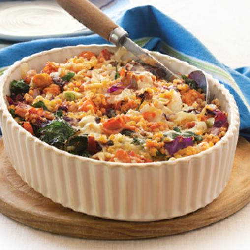 Vegetable Lentil Bake
