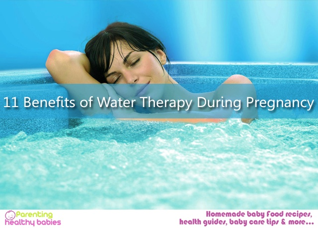 Water therapy during pregnancy