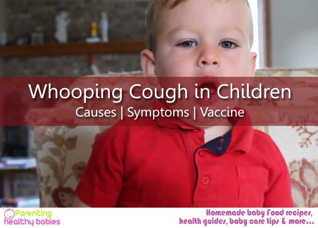 Whooping cough in children