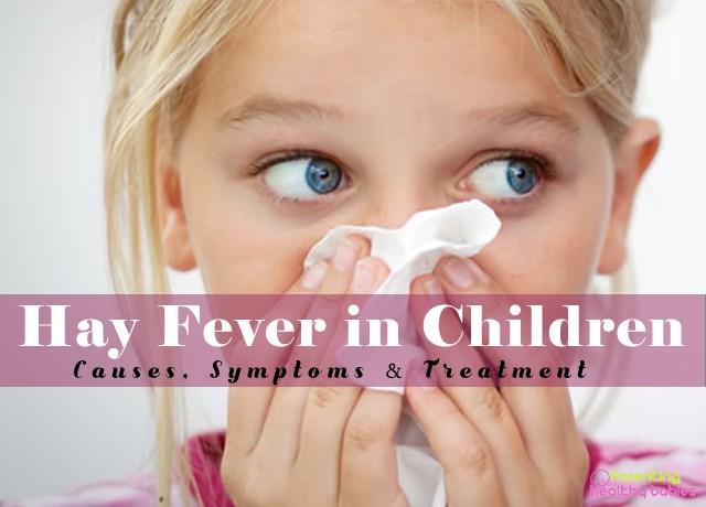 hay fever in children symptoms