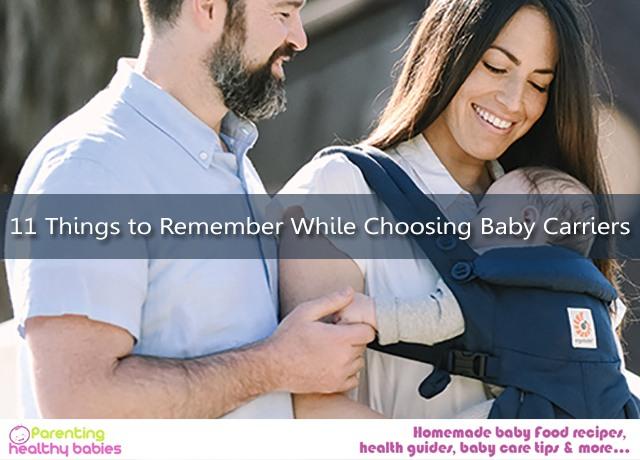 Choosing Baby Carriers