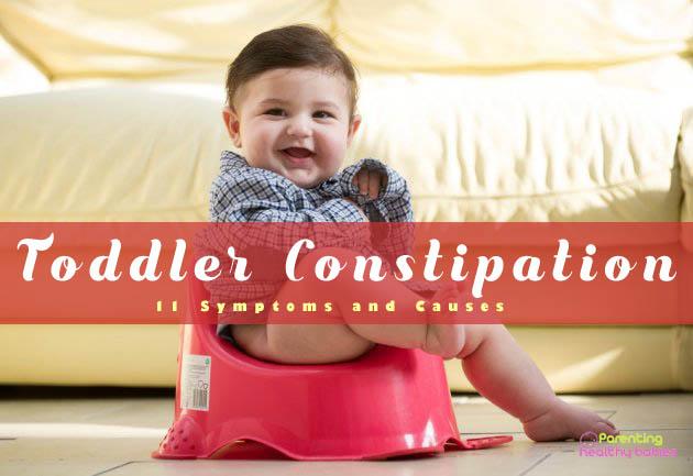 toddler constipation symptoms