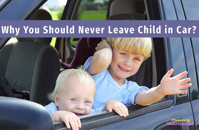 never leave children in car