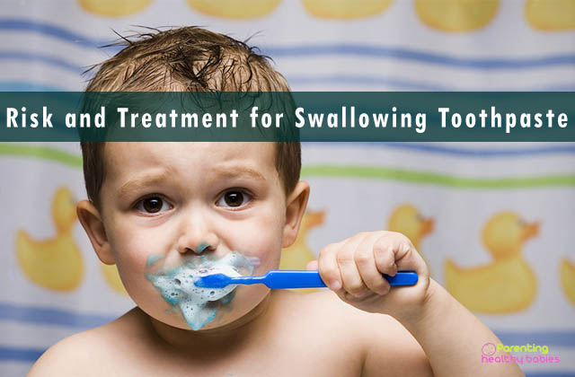 risk and treatment for swallowing toothpaste