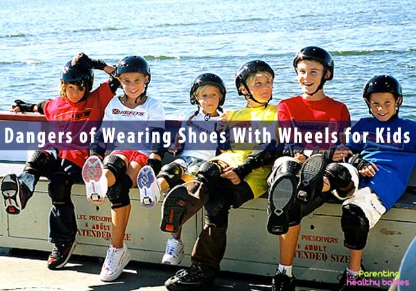Dangers of Wearing Shoes With Wheels for Kids