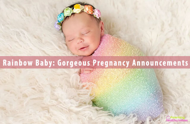 Rainbow Baby: Gorgeous Pregnancy Announcements