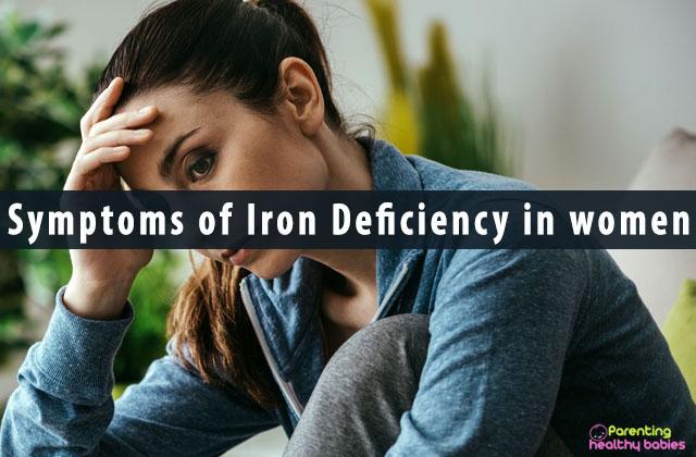 Symptoms of Iron Deficiency in women