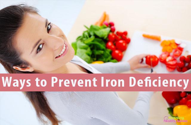 Ways to prevent iron deficiency