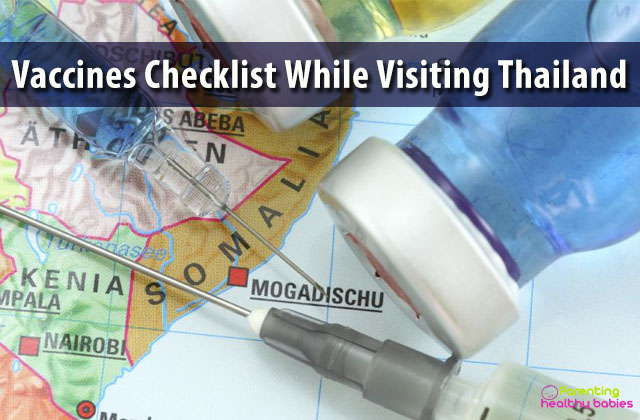 cdc travel vaccines for thailand