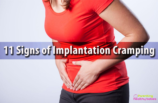 implantation cramping