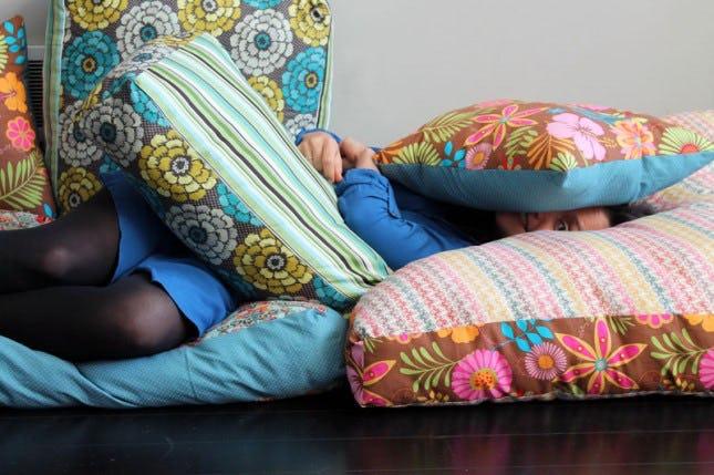 Colourful Jumbo Floor Pillows