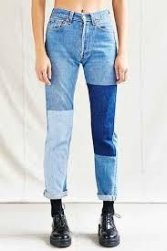 Combine Two Different Color Jeans and Complete a New Look