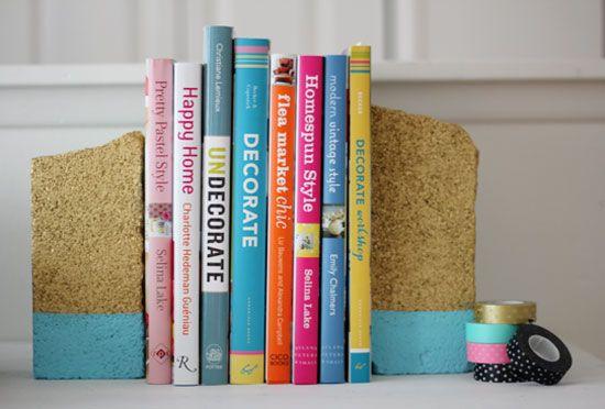 DIY Brick Bookends