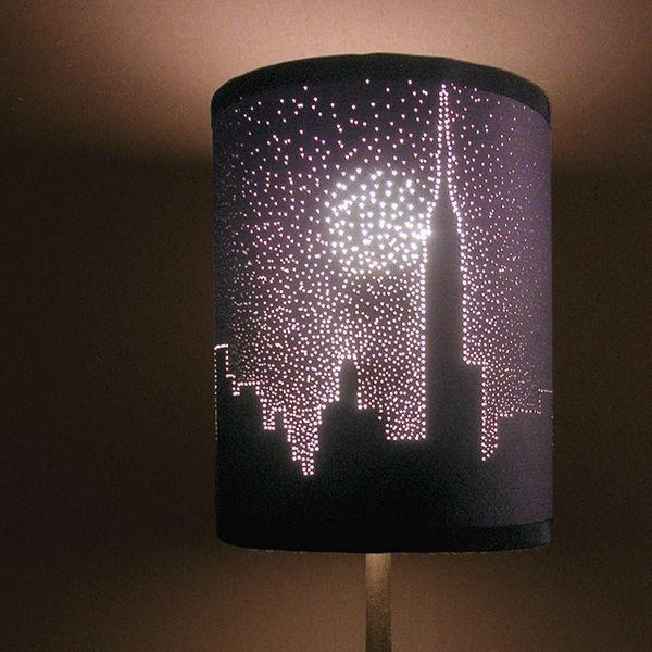 DIY City Lights Lampshade