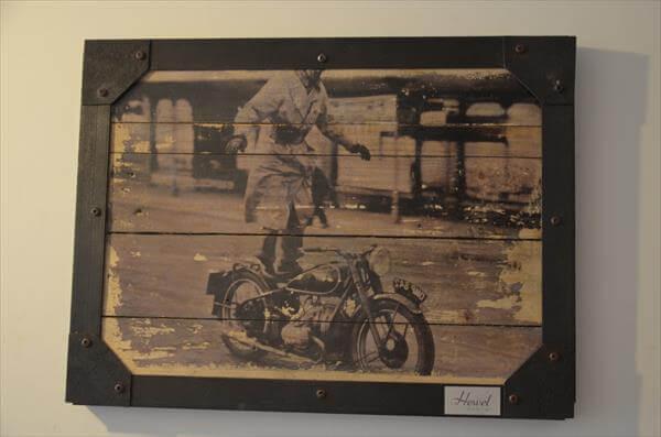 DIY Pallet Vintage Picture Wall Art