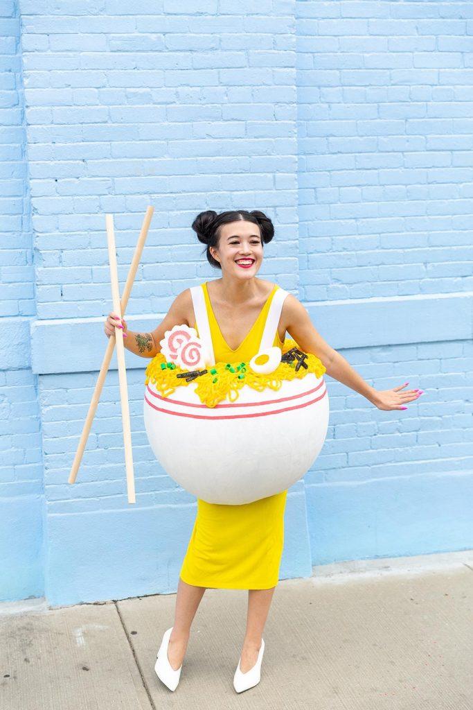 DIY Ramen Noodle Halloween Costume