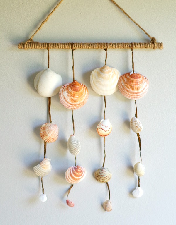 DIY Seashell Wall Hanging