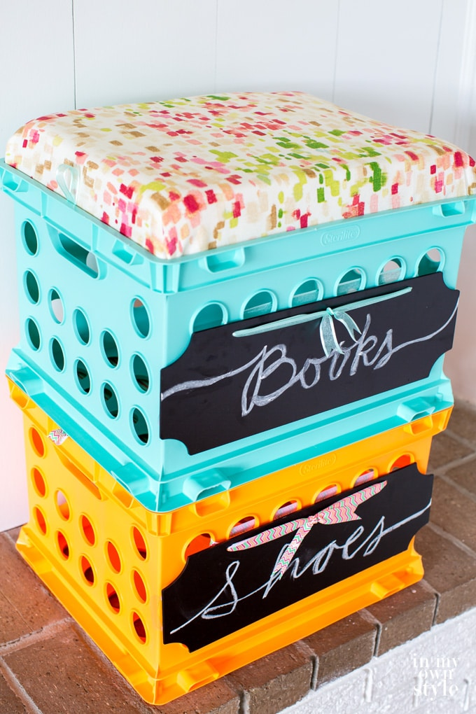 DIY Storage Crate Seat