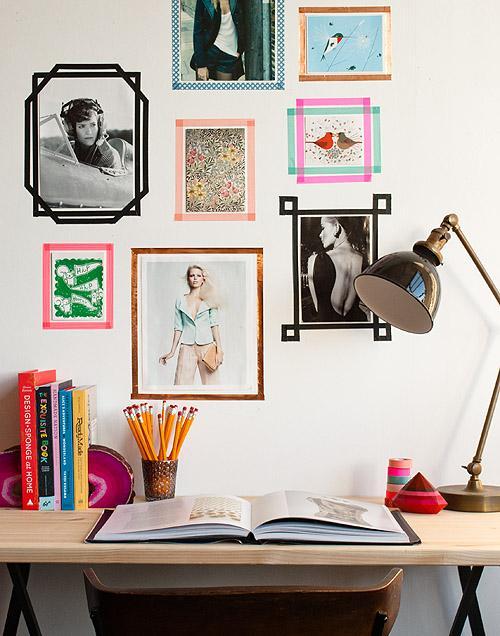 DIY Tape Picture Frames